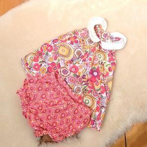 Vera Bradley Sleeveless Baby Dress Ruffle Bloomers